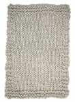 Bloomingville Plaid strikket - Lys grå
