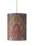 Ebb&Flow - Lampeskærm, brocade, blue/red, Ø30, loftlampe