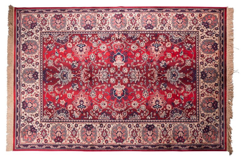 Dutchbone - Bid Tæppe 200 x 300 cm - Rød - Rødt vævet tæppe