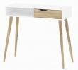 Delta Konsolbord - Konsolbord i hvid med ben i lyst træ