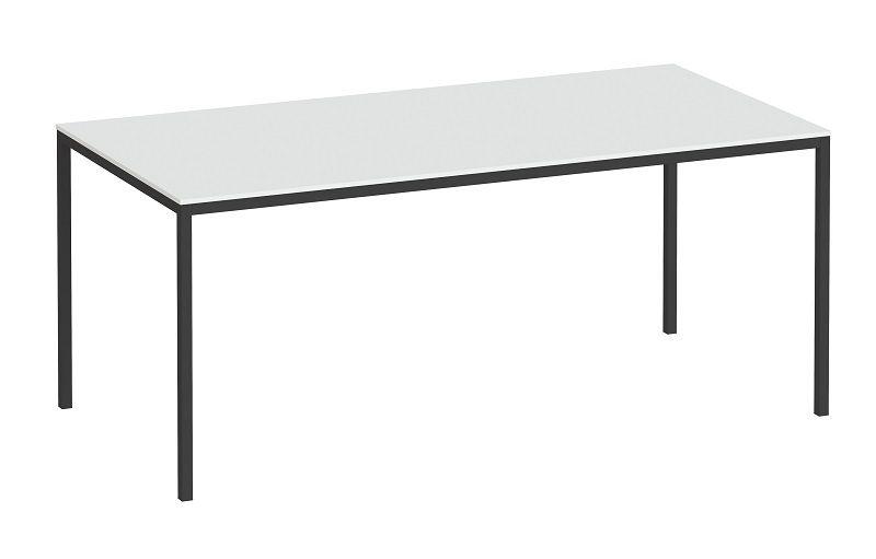 Family Spisebord 180x90 - Hvid/sort