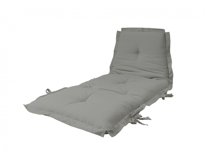 Sit&Sleep Futon madras/stol, Lys grå