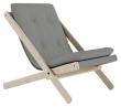 Boogie Lounge stol, Grå/Natur