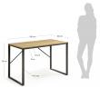 LaForma Talbot Skrivebord 120x60 - MDF/Metal
