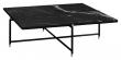 HANDVÄRK Sofabord 92x92 - Sort Marmor, messing - Sort sofabord med messing
