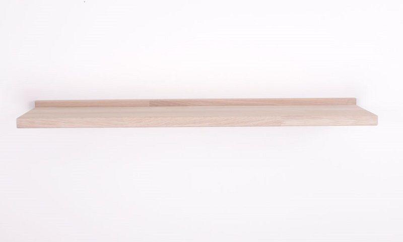 By Tika Kiel Svævende Hylde B100 cm - Eg - Aflang væghylde i eg
