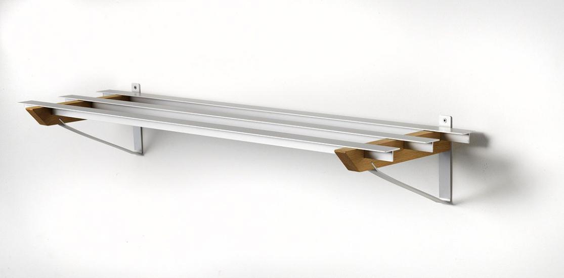 Hoigaard - SR3 Milano Skohylde - olieret eg - 98cm