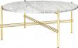 GUBI - TS Lounge bord hvid marmor - Ø80  - Design GamFratesi