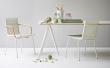 Turn Spisebord 180x90 cm - hvide ben