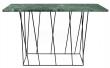 Temahome - Helix Konsolbord - Grøn m/sort stel - Konsolbord i grøn marmor