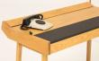 Brompton Skrivebord - Sort læder