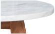 White Stone Sofabord - Ø40