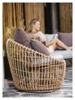 Cane-line Nest Round stol, OUTDOOR, Natur