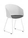 Moon 40 Spisebordsstol - Hvid/Grå