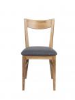 Shane Spisebordsstol - eg m. Gråt sæde