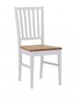 Filippa Spisebordsstol - Hvid m. Egetræssæde