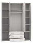 Space Garderobeskab - Hvid højglans m/4 låger