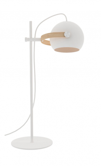 Halo Design D.C bordlampe Ø18 Hvid m/egetræ