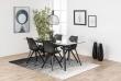Fryd Spisebordsstol - Sort med sorte ben