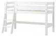 Hoppekids Premium Halvhøj seng, Hvid, 70x160