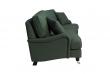 Lancaster 3-pers. sofa m/bue - Flaskegrøn m. hjul