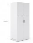Space Garderobeskab - 2 låger - Hvid