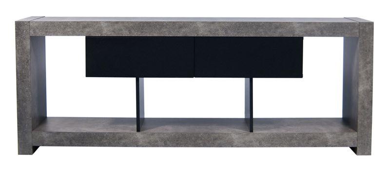 Temahome Nara TV-bord - Mørk grå - TV-bord i betonglook