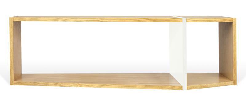 Temahome - One Reol - Lys træ/Hvid - Smart reol i naturligt træ-look