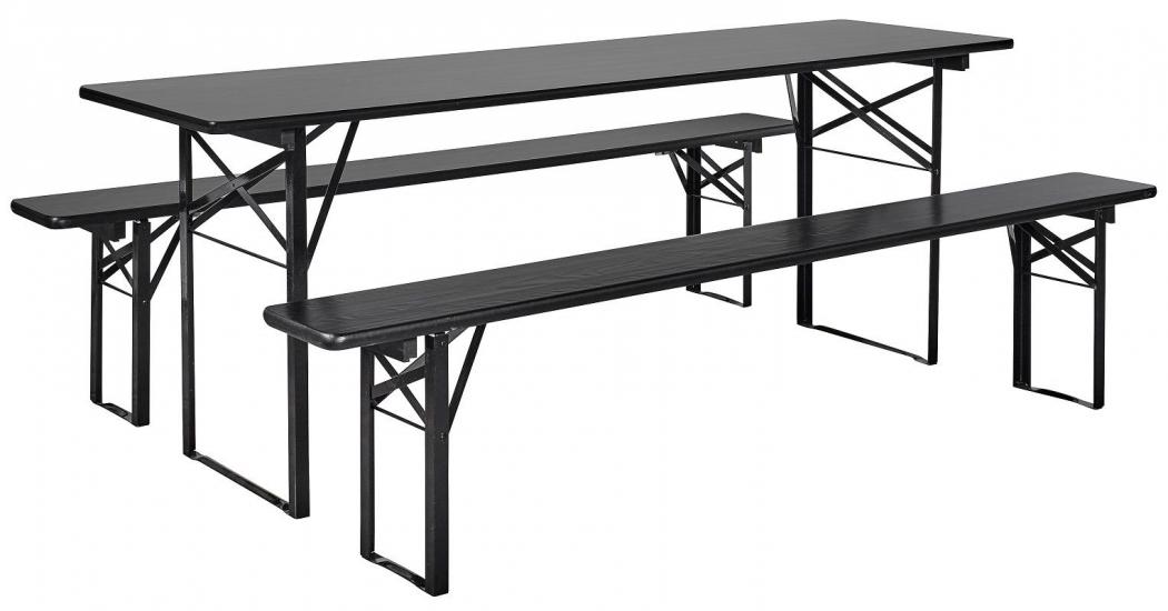 Nordal - Bord/bænkesæt - Sort - Stort - Stort bord/bænkesæt
