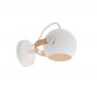 Halo Design D.C lille væglampe Ø12 Hvid m/egetræ