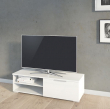 Match TV-bord - Hvid højglans