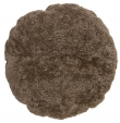 Bloomingville Pude - Brun pude i fåreskind - Ø70 cm