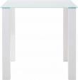 Nat Spisebord Hvid Højglans - 80x80