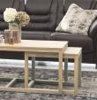 Tau Sofabordssæt 120x60 - Hvidpigmenteret