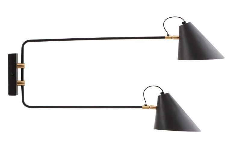 House Doctor Club Væglampe - Messing - Væglampe med detaljer i messing