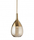 Ebb&Flow - Lute pendel, S, Golden smoke / Guld