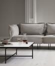 HANDVÄRK Sofabord 92x92 - Hvid Marmor, sort stel