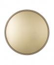 Zuiver Bandit Spejl - Guld - Rundt speil med messingfarget kant