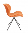 Zuiver OMG Spisebordsstol - Orange velour