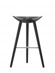 by Lassen - ML42 Barstol - Sort bøg/stål
