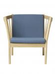 Godt FDB Møbler - J146 Lænestol - Støvet blå - Gratis fragt UV97
