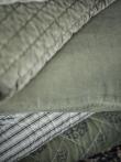 Ib Laursen - Quilttæppe i velour - oliven