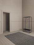 Linie Design Ajo Sort uld tæppe - 200x300