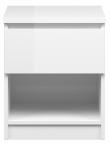 Naia Sengebord - Hvid højglans - Hvidt sengebord i højglans