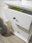 Paris Skrivebord - Hvid m/3 skuffer