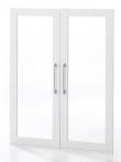 Prima Ekstralåger - 2 stk. Hvid m/glas - Flotte glasrammelåger til Prima-serien