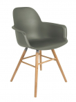 Zuiver Albert Kuip Spisebordsstol armlæn - Grøn