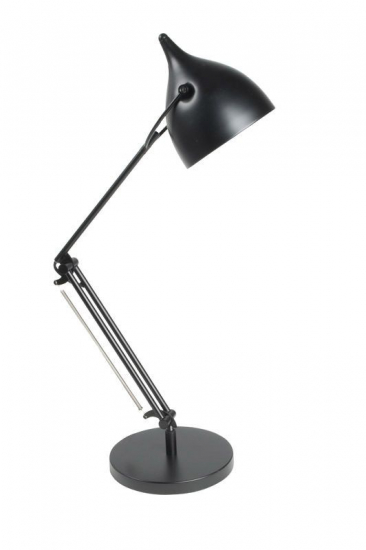 Zuiver Reader Bordlampe - Sort - Svart bordlampe med metallstil