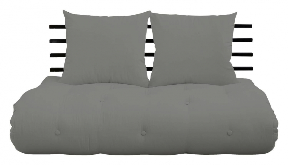 Shin Sano Futon Sofa, Lysegrå/Sort