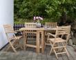 Cinas Butterfly/York Havemøbelsæt - Sæt med bord & 4 stole